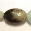 Gemstone beads, amazonite(multicolor), puff oval, 8x12mm, Sold per 16-inch Strand