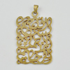 Copper Pendant, Fashion Jewelry Findings, Lead-free,  47x29x1mm, Sold by Bag