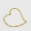 Copper Earrings, Fashion Jewelry Findings Lead-free,  heart 60x51x2mm, Sold by Bag