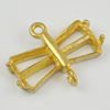 Copper connector Settings, Fashion Jewelry Findings,  18x14x4mm, Sold by Bag