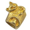 Copper European Style Beads, Fashion Jewelry Findings, Lead-free, animal 10x9x8mm Hole:5mm, Sold by Bag