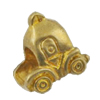 Copper European Style Beads, Fashion Jewelry Findings, Lead-free, car 12x13x7mm Hole:5mm, Sold by Bag