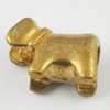 Copper European Style Beads, Fashion Jewelry Findings, Lead-free, animal 14x10x8mm Hole:5mm, Sold by Bag