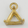 Copper Pendant Settings, Fashion Jewelry Findings, triangle 10x8x5mm, Sold by Bag