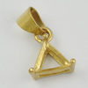 Copper Pendant Bails, Fashion Jewelry Findings, Lead-free, triangle 15x8x5mm, Sold by Bag
