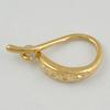 Copper Earrings, Fashion Jewelry Findings Lead-free, 13x2x7mm, Sold by Bag