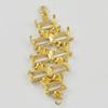 Copper Earrings, Fashion Jewelry Findings Lead-free, 33x13x3mm, Sold by Bag