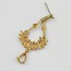 Copper Earrings, Fashion Jewelry Findings Lead-free, 41x19x4mm, Sold by Bag