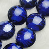 Hand-Made Lampwork Beads, flat round 20mm,thickness:10mm Hole:About 2mm, Sold by PC