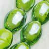 Hand-Made Lampwork Beads, oval 15x19mm,thickness:9mm Hole:About 2mm, Sold by PC