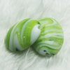 Hand-Made Lampwork Beads, flat oval 30x24mm,thickness:13mm Hole:About 2mm, Sold by PC