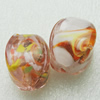 Hand-Made Lampwork Beads, cube 24x18mm Hole:About 2mm, Sold by PC