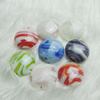 Hand-Made Lampwork Beads,Mixed color flat round 20mm,thickness:10mm Hole:About 2mm, Sold by Group