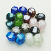 Hand-Made Lampwork Beads,Mixed color cube 17x13mm Hole:About 2mm, Sold by Group
