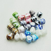 Hand-Made Lampwork Beads,Mixed color nugget 14x14mm,thickness:13mm Hole:About 2mm, Sold by Group