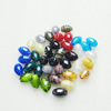 Hand-Made Lampwork Beads,Mixed color oval 19x13mm Hole:About 2mm, Sold by Group
