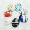 Hand-Made Lampwork Beads,Mixed color flat round 30x24mm,thickness:13mm Hole:About 2mm, Sold by Group