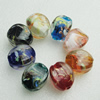 Hand-Made Lampwork Beads,Mixed color cube 24x18mm Hole:About 2mm, Sold by Group