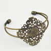 Copper Bracelet with Iron settings, Fashion Jewelry Findings, Sold by PC