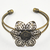 Copper Bracelet with Iron settings, Settings's inner dia:16mm, Sold by PC