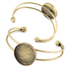Copper Bracelet with Iron settings, Settings's inner dia:25mm, Sold by PC