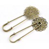Iron Brooch, Fashion Jewelry Findings, 29x70mm, Sold by Bag