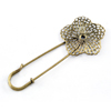 Iron Brooch, Fashion Jewelry Findings, 30x70mm, Sold by Bag