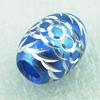 Aluminum Beads Diamond-Cut Oval Free-leads 16x12mm Sold per pkg of 500