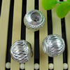 Aluminum Beads, Diamond-Cut,  Round, 16mm Sold by Bag