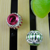 Aluminum Beads, Diamond-Cut, Round, 8mm Sold by Bag