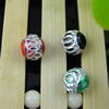 Aluminum Beads, Diamond-Cut, Round, 6mm Sold by Bag