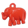 Spray-paint Pendant. Fashion Zinc Alloy Jewelry Findings. Animal 18.5x20mm. Sold by Bag