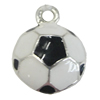 Zinc Alloy Enamel Pendant. Fashion Jewelry Findings. Flat Round 17x13mm. Sold by Bag