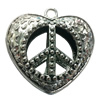 Hollow Bali Pendant. Fashion Zinc Alloy Jewelry Findings. Heart 50x50mm. Sold by PC