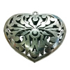 Hollow Bali Pendant. Fashion Zinc Alloy Jewelry Findings. Heart 75x65mm. Sold by PC