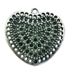 Hollow Bali Pendant. Fashion Zinc Alloy Jewelry Findings. Heart 45x45mm. Sold by PC