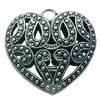 Hollow Bali Pendant. Fashion Zinc Alloy Jewelry Findings. Heart 36x36mm. Sold by PC