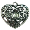Hollow Bali Pendant. Fashion Zinc Alloy Jewelry Findings. Heart 47x52mm. Sold by PC
