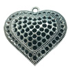 Hollow Bali Pendant. Fashion Zinc Alloy Jewelry Findings. Heart 45x53mm. Sold by PC