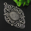 Zinc Alloy Cabochon Settings. Fashion Jewelry Findings. 49.5x84.5mm, Inner dia:18.3x25mm. Sold by PC