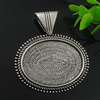 Zinc Alloy Cabochon Settings. Fashion Jewelry Findings. 56x50mm, Inner dia:30.3x40.3mm. Sold by PC