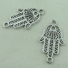 Connector. Fashion Zinc Alloy Jewelry Findings. Hand 27x15mm. Sold by Bag