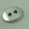 Button,Fashion Zinc Alloy Jewelry Findings. 14x10mm. Hole:2mm. Sold by Bag