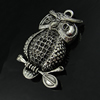 Hollow Bali Pendant. Fashion Zinc Alloy Jewelry Findings. Animal 70x47x17mm. Sold by PC