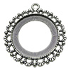 Zinc Alloy Cabochon Settings. Fashion Jewelry Findings.  40mm Inner dia:29.5mm. Sold by Bag