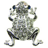 Crystal Zinc alloy Beads, Fashion jewelry findings, Many colors for choice, Animal 17x19mm, Sold By PC