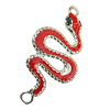 Zinc Alloy Enamel Connector, Fashion jewelry findings, Many colors for choice, Animal Animal 23x49mm, Sold by PC