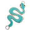 Zinc Alloy Enamel Connector, Fashion jewelry findings, Many colors for choice, Animal 23x49mm, Sold by PC