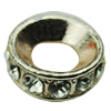 Zinc Alloy with Rhinestone Beads,15x15mm,Hole:7mm, Sold by PC