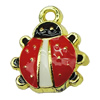 Zinc Alloy Enamel Pendant. Fashion Jewelry Findings.13x15mm. Sold by PC
